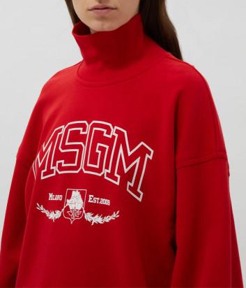Толстовка-гольф MSGM 3141MDM73 красная с логотипом