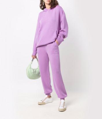 Трикотажный костюм MSGM 3141MDM11/MDP11 худи и брюки фиолетовый