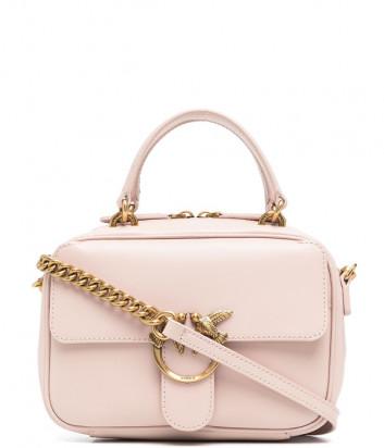 Кожаная сумка PINKO Love Mini Square Simply 1P221U пудровая