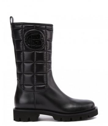 Женские ботинки BALDININI D2B390 в стеганной коже черные