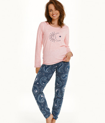 Пижама TARO Gaia 2563 розово-синяя