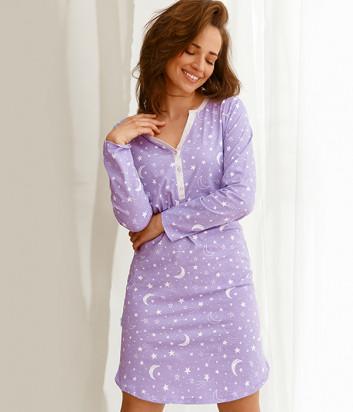 Ночная рубашка TARO Livia 2574 фиолетовая