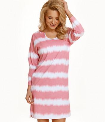 Ночная рубашка TARO Carla 2568 розово-белая
