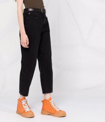 Укороченные джинсы TWINSET 212TP232C прямого кроя черные