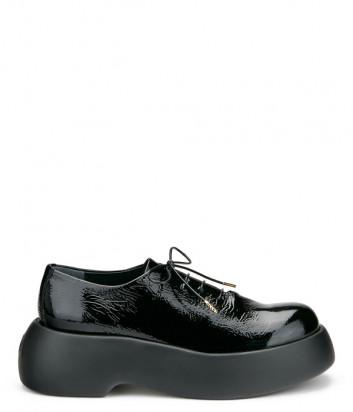 Лаковые туфли ATTILIO GIUSTI LEOMBRUNI (AGL) 772002 на платформе черные