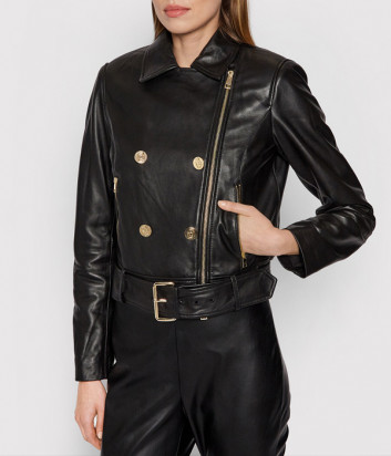 Кожаная куртка косуха LIU JO CF1033P0336 черная
