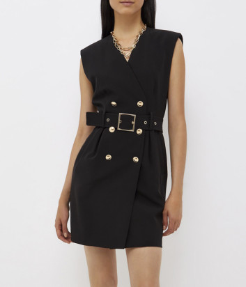 Короткое платье LIU JO CF1107T2200 с ремнём черное