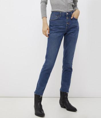 Зауженные джинсы LIU JO UF1034D4271 высокой посадки синие