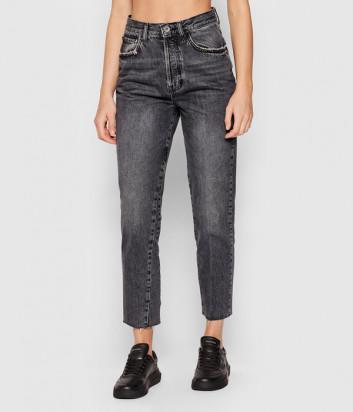 Мам джинсы LIU JO UF1084D4265 высокой посадки серые