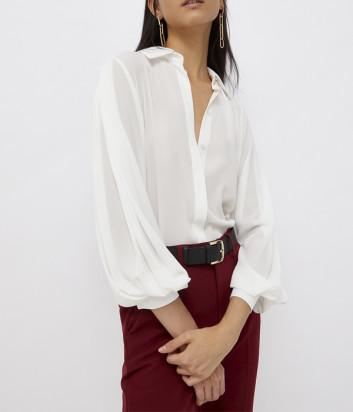 Белая рубашка LIU JO CF1096T2353 с пышными рукавами