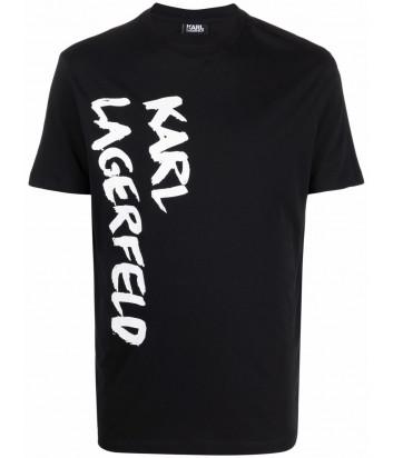 Мужская футболка KARL LAGERFELD 755041 512226 черная с логотипом