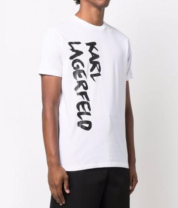 Мужская футболка KARL LAGERFELD 755041 512226 белая с логотипом