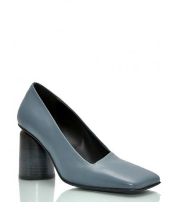 Кожаные туфли HALMANERA Fulvia 05 с квадратным носком голубые