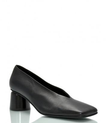 Кожаные туфли HALMANERA Fanny 01 с квадратным носком черные