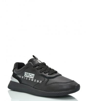 Женские кожаные кроссовки JOHN RICHMOND 12311 черные