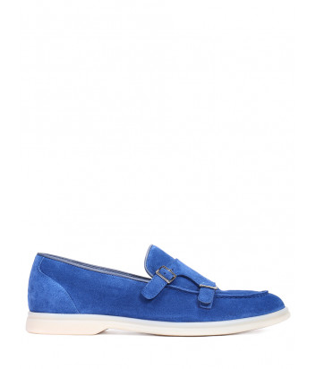 Замшевые туфли BRECOS 10017 синие