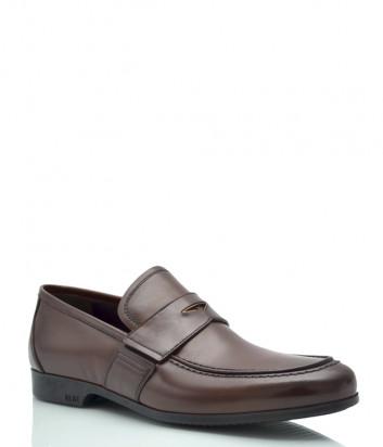 Классические туфли FABI 7075 в гладкой коже коричневые