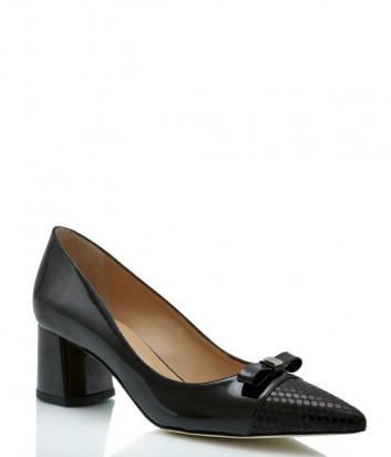 Лаковые туфли-лодочки ROBERTO SERPENTINI 24018 черные