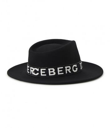 Шляпа-федора ICEBERG 71016901 с вышитым логотипом черная