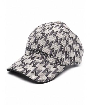 Жаккардовая кепка KARL LAGERFELD 216W3414 с монограммой
