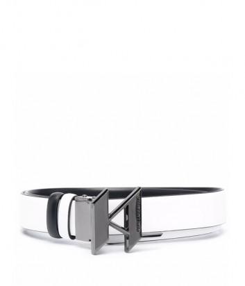Кожаный ремень KARL LAGERFELD 216W3150 двухсторонний черно-белый