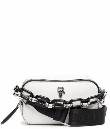Кожаная сумка KARL LAGERFELD Ikonik 216W3003 с цепочкой белая