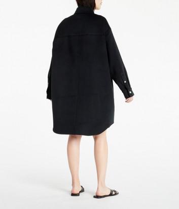 Оверсайз пальто-рубашка CALVIN KLEIN Jeans J20J217456 на пуговицах черное