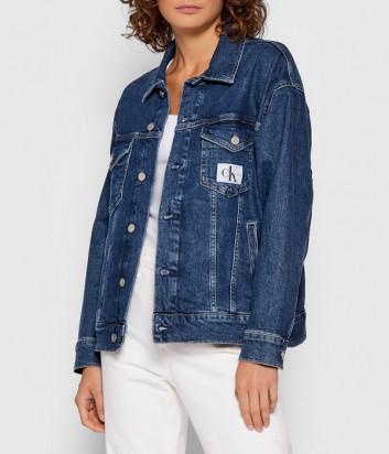 Джинсовая куртка CALVIN KLEIN Jeans J20J216439 синяя