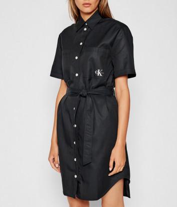 Платье-рубашка CALVIN KLEIN Jeans J20J216481 черное