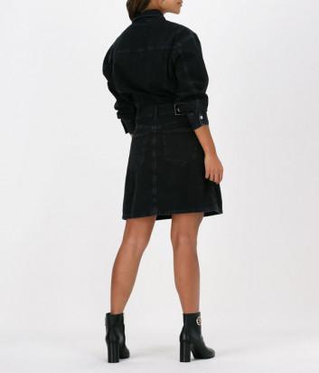 Джинсовое платье CALVIN KLEIN Jeans J20J217101 на пуговицах черное