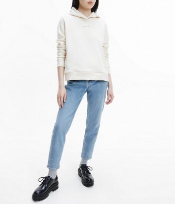 Толстовка CALVIN KLEIN Jeans J20J216958 с капюшоном молочная