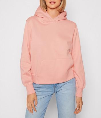 Толстовка CALVIN KLEIN Jeans J20J216234 с капюшоном розовая
