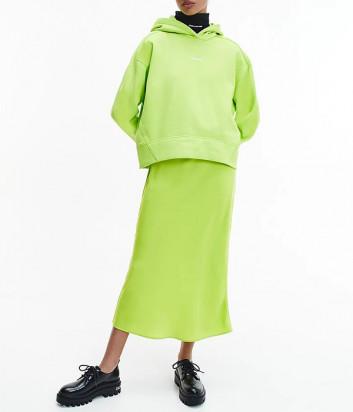 Толстовка CALVIN KLEIN Jeans J20J215462 с капюшоном салатовая