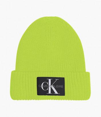 Вязаная шапка CALVIN KLEIN Jeans K50K506242 салатовая