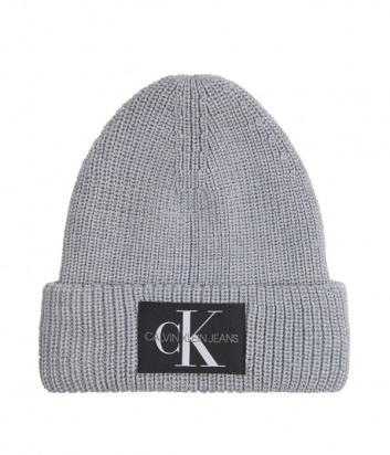 Вязаная шапка CALVIN KLEIN Jeans K50K506242 серая