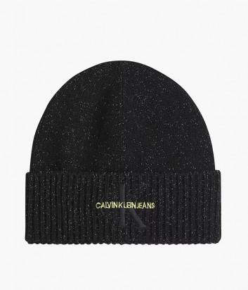 Вязаная шапка CALVIN KLEIN Jeans K50K507179 черная