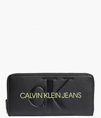 Портмоне на молнии CALVIN KLEIN Jeans K60K608397 черное с логотипом