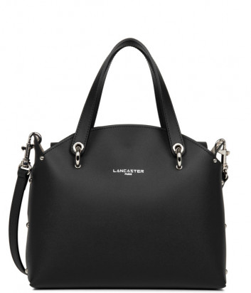 Кожаная сумка LANCASTER Pur & Element City Flore 423-49 черная внутри бежевая