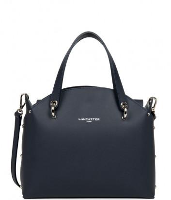 Кожаная сумка LANCASTER Pur & Element City Flore 423-49 синяя