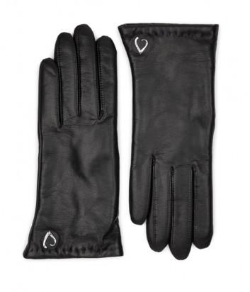 Кожаные перчатки LANCASTER 630-03 на меху черные
