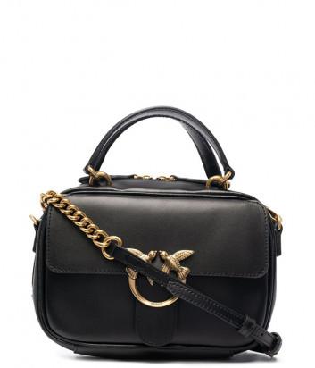 Кожаная сумка PINKO Love Mini Square Simply 1P221U черная