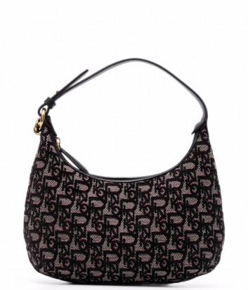 Жаккардовая сумка-тоут PINKO Day Hobo Bag Mini 1P22DU с монограммой