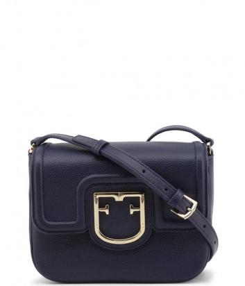 Кожаная сумка через плечо FURLA Joy XS синяя