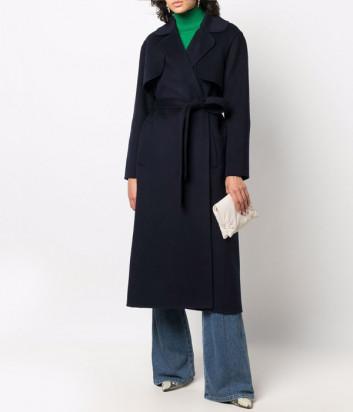 Женское шерстяное пальто P.A.R.O.S.H. LEAK D430891 синее