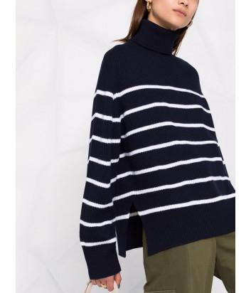 Шерстяной свитер P.A.R.O.S.H. Luana D512870 синий в белую полоску