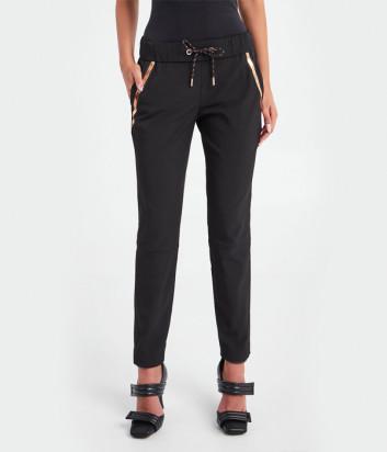 Спортивные брюки SPORTALM 9616514062 черные с золотыми вставками