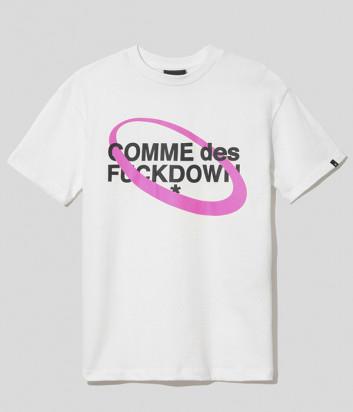 Женская хлопковая футболка COMME DES FUCKDOWN CDFD1631 белая