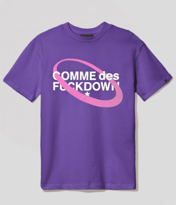 Женская хлопковая футболка COMME DES FUCKDOWN CDFD1631 фиолетовая