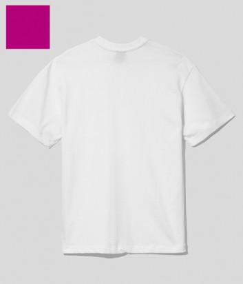 Женская футболка COMME DES FUCKDOWN CDFD1551 с вышитым логотипом фуксия
