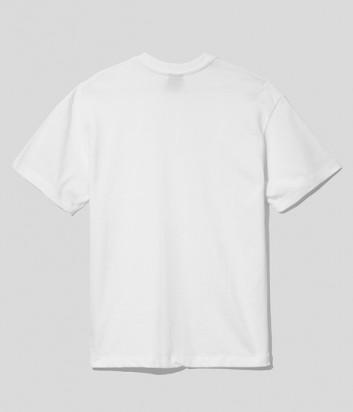 Женская футболка COMME DES FUCKDOWN CDFD1551 с вышитым логотипом белая